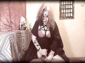 Vintage,Classic,Retro,Big Tits,Handjob,Amateur,Jock,Lactating Witch milking a...