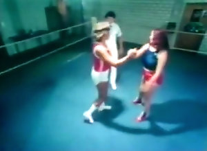 Vintage,Classic,Retro,Catfight,Fighting,Vintage Vintage Wrestling...