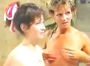 Vintage,Classic,Retro,Threesome,Hairy,Threesome,Vintage Erica Boyer takes...