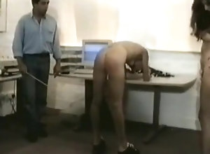 Brunette,Vintage,Classic,Retro,Old and Young,BDSM,British,Spanking,Office,Secretary,Spanked,Vintage,workers,Haley Jane Russell Female office...