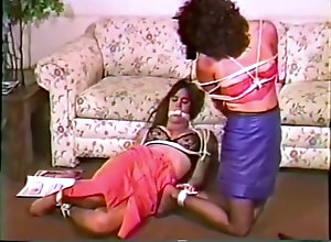 Vintage,Classic,Retro,Fetish,Soles,Struggling 2 women in...