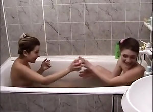 Vintage,Classic,Retro,Teens,19 Year Old,Couple,Shower Two teens taking...