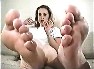 Brunette,Vintage,Classic,Retro,Foot Fetish,Point of View,Massage,Solo Female,Masturbation Instruction Marcia Foot JOI