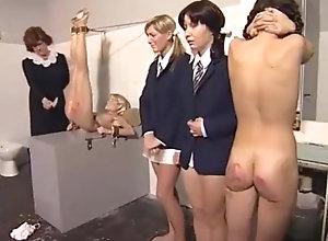 Blond,Vintage,Classic,Retro,BDSM,Spanking,Teens,house,Spanked Renata Sukova...