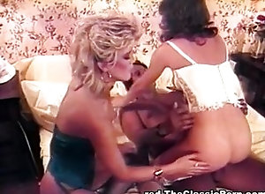Group;Blonde;Lingerie;Vintage,Blonde;Blowjob;Brunette;Caucasian;Cum Shot;Hairy;Lingerie;Oral Sex;Stockings;Threesome;Vaginal Sex;Vintage Two girls riding...
