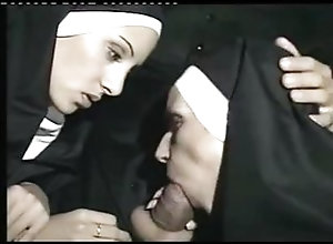 Anal;Group;Vintage,Anal Sex;Blowjob;Masturbation;Oral Sex;Outdoor;Threesome;Uniform;Vaginal Masturbation;Vaginal Sex;Vintage;Wanking Nuns Must Be...