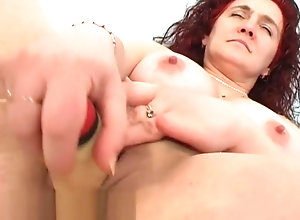 Masturbation,Red Head,Vintage,Classic,Retro,Big Tits,Toys,Mature,MILF,Solo Female,Blowjob,Redhead,Clip Astonishing sex...