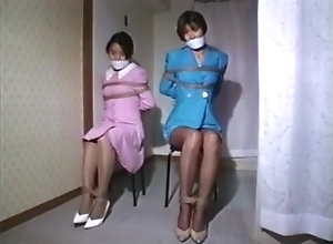 Asian,Brunette,Vintage,Classic,Retro,BDSM,Amateur,Japanese,Couple,Struggling Two Women struggle