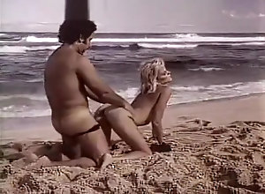 Vintage,Classic,Retro,Public,Outdoor Beach fuck on the...