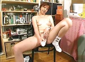 Masturbation,Brunette,Vintage,Classic,Retro,Toys,Striptease,Small Tits,Amateur,Skinny,Solo Female,Dark Hair,nipple play Brunette loves...