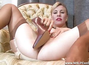 8::Solo Girl,74::Blonde,89::Big Tits,94::Caucasian,102::Vaginal Masturbation,210::Stockings,212::Lingerie,235::Striptease,805::MILF,811::High Heels,7706::HD,15463::Fake Tits,73.07691955566406 Sexy blonde Saffy...