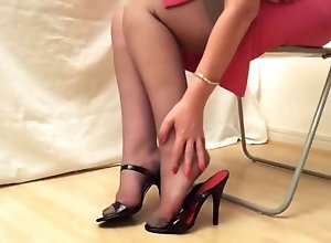 Vintage,Classic,Retro,Stockings,High Heels,Stockings Black Heels And...