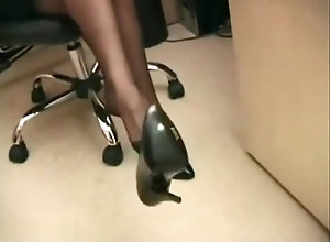 Vintage,Classic,Retro,Foot Fetish,Secretary Lana Office