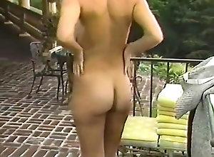 Vintage,Classic,Retro,Big Tits,Hairy,Voyeur,Nipples,Garden,melons Gardener Admires...