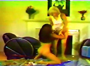 Lesbian,Vintage,Classic,Retro,Couple,Lesbian,Vintage Two Lesbians Lick...