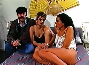 Bisexuals;Hairy;Small Tits;Threesomes;Vintage Hairy trio FMF