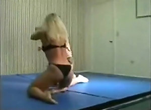Blond,Vintage,Classic,Retro,Amateur,Fetish,FBB,Fighting,Muscled mixed wrestling...