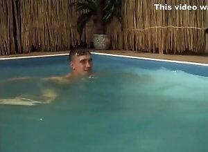 Vintage,Classic,Retro,Threesome,Pool,Threesome Meri Pool Threesome