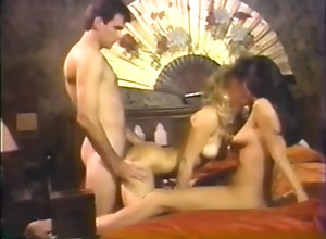 Brunette,Blond,Vintage,Classic,Retro,Threesome,Cumshot,Vintage Hyapatia Lee and...