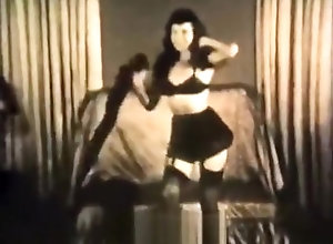 Vintage,Classic,Retro,Big Ass,Dancing,Pretty,Undressing Gorgeous Girl...