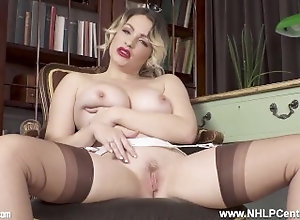 nhlpcentral;kink;big-boobs;blonde;babe;big-tits;lingerie;strip-tease;fetish;nylons;stockings;joi;garter-belt;stiletto-heels;high-heels;vintage,Babe;Big Tits;Blonde;Fetish;Pornstar;British;Solo Female,Penny Lee Busty blonde...