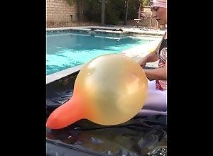 balloon;balloon-climb-in;latex-balloon;slime-balloon;shiny-leotard;shiny-leggings;shiny-one-piece;giant-balloon;kink;retro,Exclusive;Verified Amateurs;Solo Female Shiny leotard...
