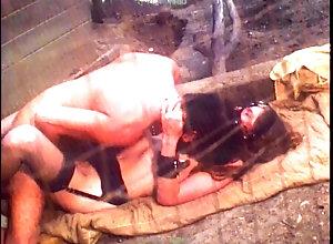 vcxclassics;kink;petite;retro;bondage;kinky;collar;leash;leather;face;mask;chains;restraints;vintage;classic;60s;kathy;konnors,Blowjob;Cumshot;Fetish;Vintage;Small Tits Fuck Slave Kept...