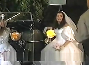 Vintage,Classic,Retro,Threesome,Hairy,Wedding Double Bridal...