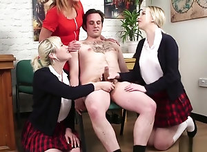 Brunette,Blond,Vintage,Classic,Retro,Group Sex,Handjob,Femdom,Cumshot,Teens,Jerking,Jock,Kinky,Messy,School Uniform,Tugjob Filthy femdom...