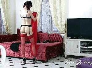 milf;russian-milf;mistress;goddess;foot-fetish;fetish;sexy-dress;voyeur-changing-room;amateur;verified-amateurs;changing-dress;stockings;milf-stokings;black-stoking;red-stockings;russian-goddess,Bondage;Brunette;Fetish;MILF;Vintage;Role Play;Russian; mistress changes...