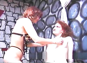 Lesbian,Red Head,Vintage,Classic,Retro,Fetish,Skinny,Mistress,Rough,Skinny,Slave Rough dominatrix...