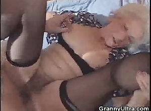 Big Tits;Vintage;Young and Old,Big Cock;Big Tits;Blowjob;Caucasian;Couple;German;Granny;Hairy;High Heels;Oral Sex;Stockings;Vaginal Sex;Vintage;Young & Old Granny Gets Laid...