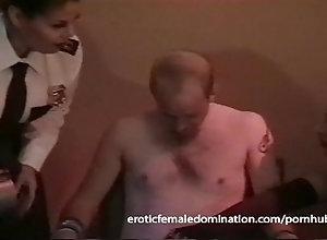 bdsm;kink;retro;femdom;domination;choking;bondage;spanking;flogging;dungeon;latex;milf;brunette,Bondage;Fetish;Funny;Vintage Policewoman and a...