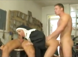 Anal,Vintage,Classic,Retro,Threesome,Big Tits,Big Ass,Blowjob,Cumshot,German,Penetrating,Religious Nun DP fucked
