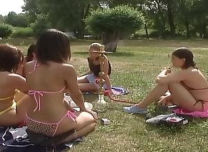 Vintage,Classic,Retro,Threesome,Outdoor,German,Tattoo Tyra Misoux -...