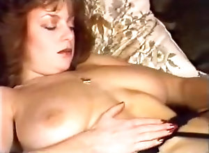 Brunette,Vintage,Classic,Retro,Big Tits,Striptease,MILF Karen In Fur Coat