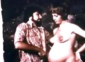 Brunette,Pregnant,Vintage preggo scene vintage