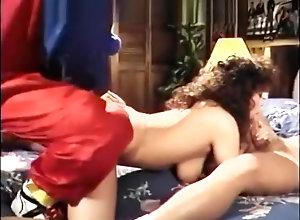 Brunette,Vintage,Classic,Retro,Big Tits,Dark Hair,Mask fetish,Penetrating Guys in mask...