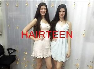 Brunette,Vintage,Classic,Retro,Fetish,Hair Washing,twins Twins wash hair...