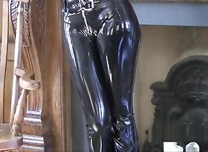 Softcore,Ebony,Vintage,Classic,Retro,Latex,Hot Mom,outfit,PVC,Shiny Shiny black latex...