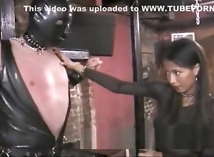 Asian,Vintage,Classic,Retro,Bondage,Fetish,Kinky,Mask fetish,Oriental,Spanked Kinky stud in a...